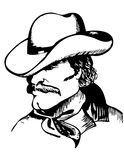 Cowboy man. Cowboy portrait.Vector graphic image Royalty Free Stock Image