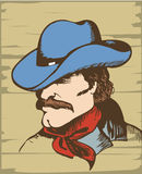 Cowboy man. Cowboy portrait.Vector graphic image Royalty Free Stock Photography