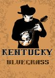 Cowboy with mandolin seven Royalty Free Stock Photo