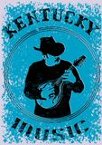 Cowboy with mandolin six Royalty Free Stock Photos