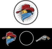 Cowboy Mascot Fotografia Stock