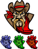 Cowboy Mascot Logo vector illustration