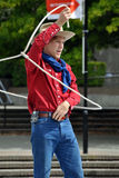 Cowboy Max, World Buskers Festival stock photography
