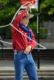 Cowboy maximal, Weltbuskers-Festival Stockfotografie