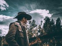 Cowboy on meadow