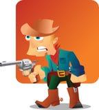 Cowboy met kanon Stock Foto's