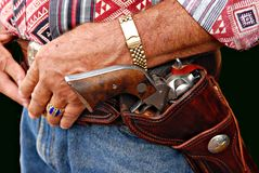 Cowboy mit der Gewehr Stockbild