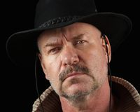 Cowboy mit Fluglage Lizenzfreies Stockfoto