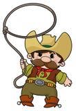 Cowboy mit Lasso Lizenzfreies Stockfoto