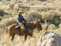Cowboy moderno di giorno immagini stock libere da diritti