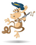 Cowboy Monkey. Rooting Tooting Shooting Cowboy Monkey with Gun and Stetson Royalty Free Stock Images
