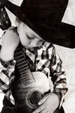 Cowboy music Stock Photography