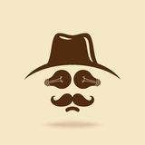 Cowboy with mustache icon Stock Image