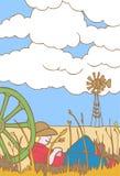 Cowboy in Nebraska vector illustration