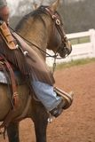 Cowboy oben Stockfotografie