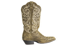 Cowboy occidental Boot de dames Brown images stock