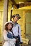 Cowboy occidentale Fotografie Stock
