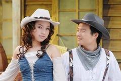 Cowboy occidentale Immagine Stock