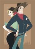 Cowboy- och cowgirlpar Royaltyfri Fotografi