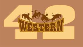 Cowboy ocidental ilustração royalty free