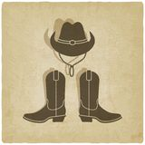 Cowboy old background Royalty Free Stock Photos