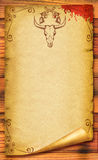 Cowboy old paper background Royalty Free Stock Images