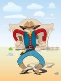 Cowboy op beweging Stock Foto