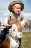 Cowboy op een eekhoorn Stock Afbeelding