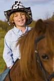 Cowboy in Opleiding stock afbeelding