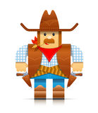 Cowboy origami toy Stock Image