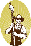 Cowboy painter with paintbrush Royalty Free Stock Images