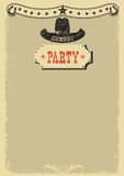 Cowboy party background with western decoration Stock Image