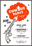 Cowboy party poster Stock Photos