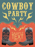 Cowboy party poster vector - invitation - eps 10 Stock Photo