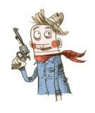 Cowboy pensieroso Fotografie Stock Libere da Diritti
