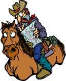 Cowboy perdido Imagens de Stock