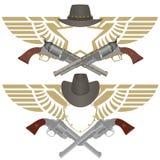 Cowboy pistols Stock Image
