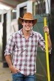 Cowboy pitch fork Stock Photo