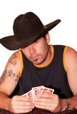 Cowboy playing card Stock Photography