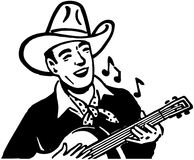 Cowboy Playing Guitar Royalty Free Stock Photo