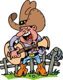Cowboy playing music Stock Photo