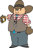 Cowboy With A Pocket Watch Royalty Free Stock Photography