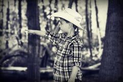 Cowboy Pointing Fotografie Stock Libere da Diritti