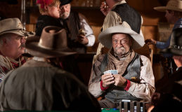 Cowboy With Poker Face Royalty Free Stock Image