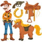 Cowboy pony saddle Stock Images