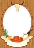 Cowboy poster background Stock Photo