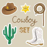 Cowboy poster. Wild west background for your design. Royalty Free Stock Images