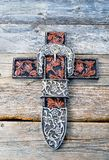 Cowboy Prayer Cross stock photography