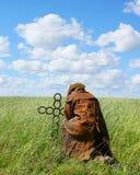 Cowboy Praying Stock Photo