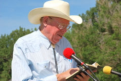 Cowboy preacher. Royalty Free Stock Photography